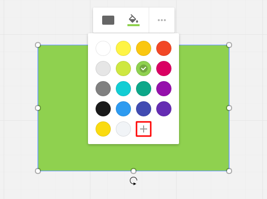 You can add new colors to the palette in RealtimeBoard